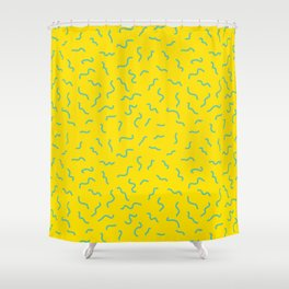 Postmodern Germs No. 1 in Canary Yellow Shower Curtain