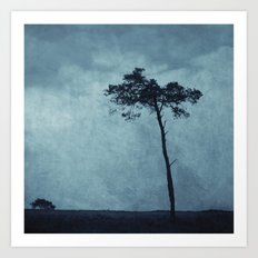 Blue Trees  Art Print