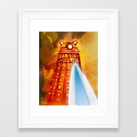 dalek Framed Art Prints featuring Dalek by Tony DaBronzo