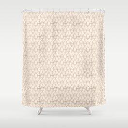 Summer Frozen Treats | Black + Peach Shower Curtain