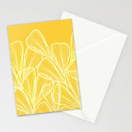 Golden Yellow Flora Stationery Cards