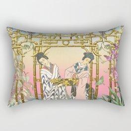 Geishas at the Gate Rectangular Pillow