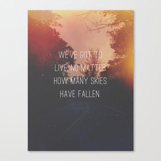 Fallen Skies Canvas Print