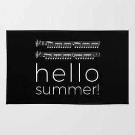 Hello summer! (black) Rug