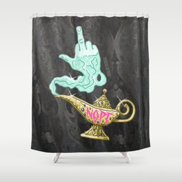 Nope Lamp Shower Curtain