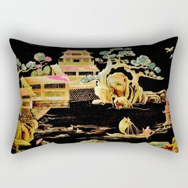 oriental pagodas Rectangular Pillow