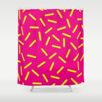 bugs Shower Curtains featuring bugs by very giorgious