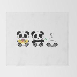 Three Little Pandas Throw Blanket