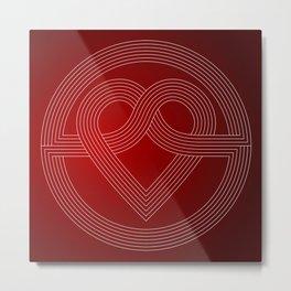 Cross Star Lover's Heart Metal Print
