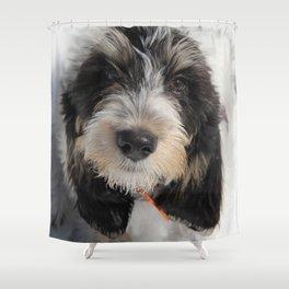 GBGV Puppy with Attitude Shower Curtain