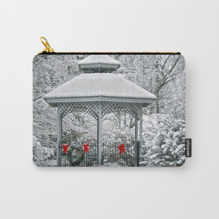 Gazebo in the Snow Carry-All Pouch