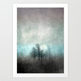 NOVEMBER FOREST COLORED MOODY Art Print