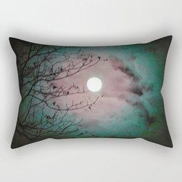 Mystic Moon Pink Teal Rectangular Pillow