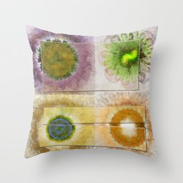 Lazed Consonance Flowers  ID:16165-024553-49331 Throw Pillow