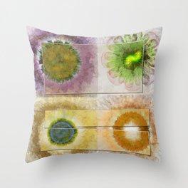 Lazed Consonance Flowers  ID:16165-024553-49331 Throw Pillow