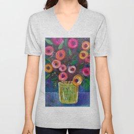 A Bouquet of Joy Unisex V-Neck