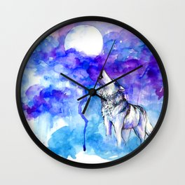 Wolf Song Wall Clock