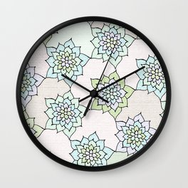 zakiaz white lotus Wall Clock