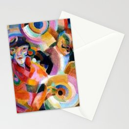 Flamenco singer by Sonia Delaunay Stationery Cards