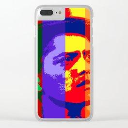 B-r-u-n-o-m-a-r-s-celebrity-art-full-colour Clear iPhone Case