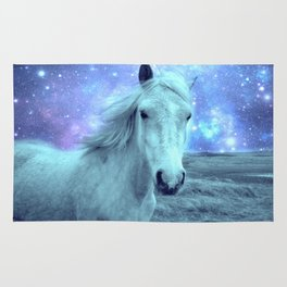Celestial Dreams Horse Periwinkle Lavender Aqua Rug
