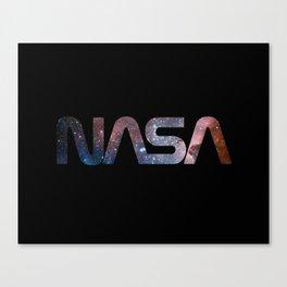 NASA font Canvas Print