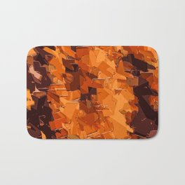 brown and dark brown painting abstract background Bath Mat