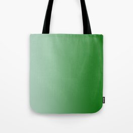 Pastel Green to Green Vertical Linear Gradient Tote Bag