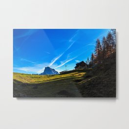 Sunny autumn day at the mount Tersadia in the italian alps Metal Print