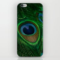 peacock iPhone & iPod Skins featuring Peacock by Olivia Joy StClaire