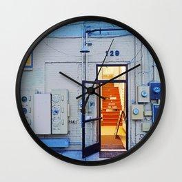 Artist Building Wall Clock