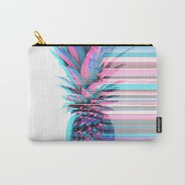 Light Blue and Pink Pineapple Carry-All Pouch