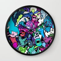 the flash Wall Clocks featuring Flash! by Vanessa Teodoro