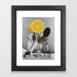 Dont Be A Lemon Framed Art Print
