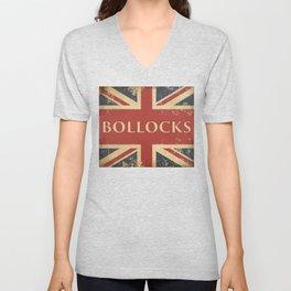 Funny British Slang Gift for Anglophiles : Bollocks Unisex V-Neck