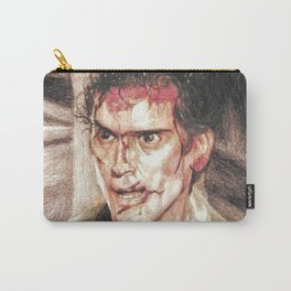 Ash from Evil Dead II (2) by Aaron Bir Carry-All Pouch