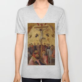 "Fra Angelico (Guido di Pietro) ""The Crucifixion"" ca. 1420–23 Unisex V-Neck"