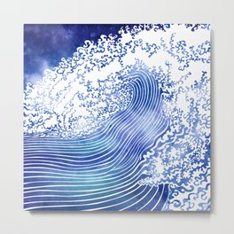 Pacific Waves II Metal Print