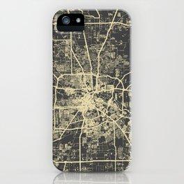 Cincinnati map iPhone Case