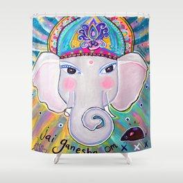 Jai Ganesha  Shower Curtain