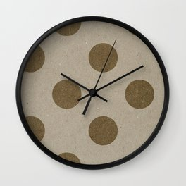 Varnish Pattern Kraft (Big Polka Dots) Wall Clock