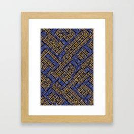 Blue Tribe Framed Art Print