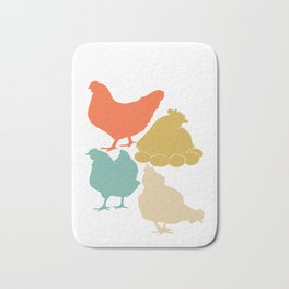 Vintage Chickens Love product Funny gift for chicken Owner Bath Mat