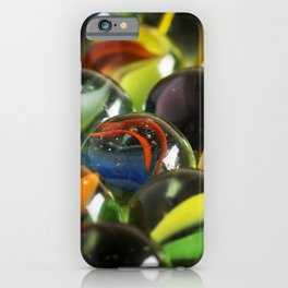 Macro Image of Antique Glass Marbles iPhone Case