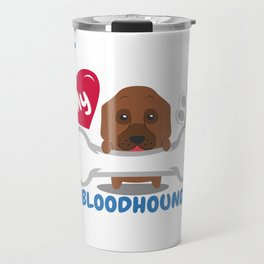 BLOODHOUND - I Love My BLOODHOUND Gift Travel Mug
