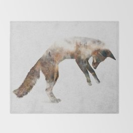 Jumping Fox Throw Blanket