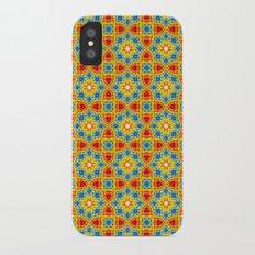 Orange stars Slim Case iPhone X