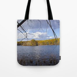 Hall Lake by Yankee Springs in Autumn Tote Bag