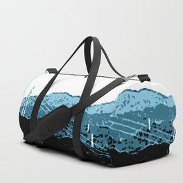 Powerlines in Japan - minimalist mountains Duffle Bag