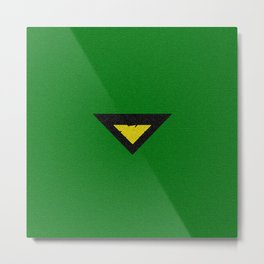 Green Phoenix Symbol Metal Print